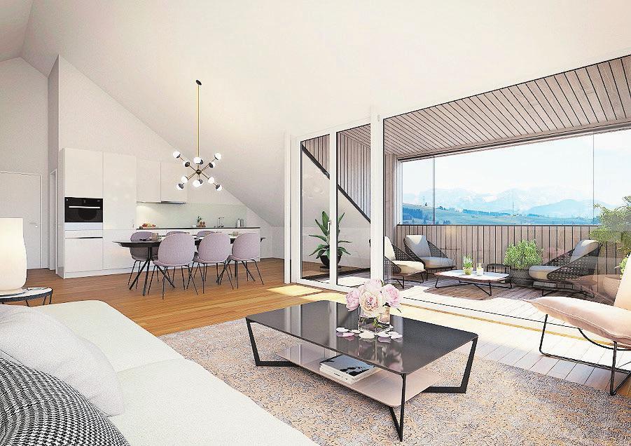 Die Balkone können über den Sommer hinaus bewohnt werden.