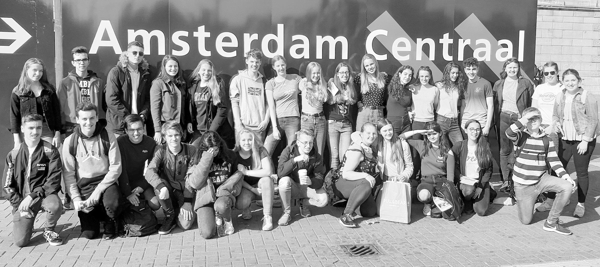 Die Hermannsburger Schüler in Amsterdam. Foto: Christian-Gymnasium