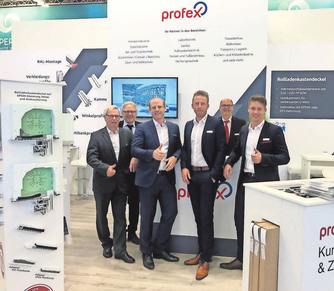 Auf Erfolgskurs: Das Vertriebsteam der Firma PROFEX Kunststoffe GmbH.