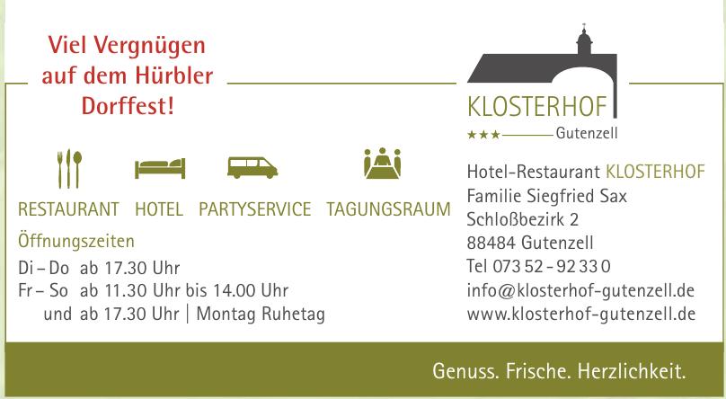 Hotel-Restaurant Klosterhof Gutenzell