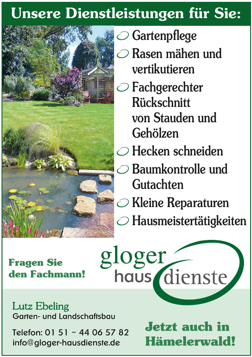 Gloger Hausdienste GmbH Lutz Ebeling