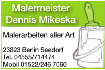 Malermeister Denis Mikeska