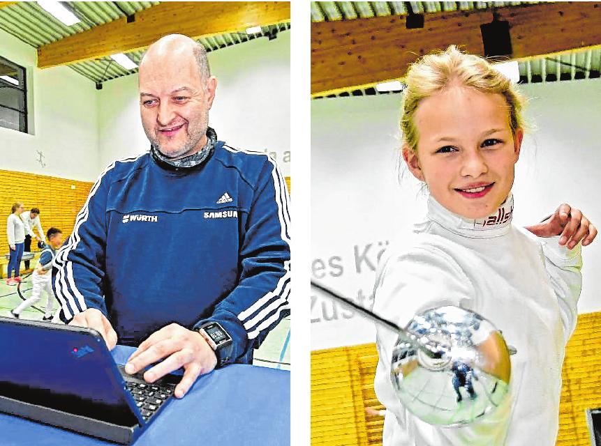 Walter Fendel leitet die Abteilung Fechten der SSG Bensheim und ist außerdem als Trainer im Einsatz. Der Nachwuchs hat Spaß an dem anspruchsvollen Sport. /Bilder: Dietmar Funck