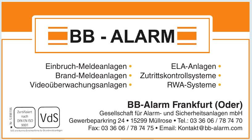 BB-Alarm Frankfurt (Oder)
