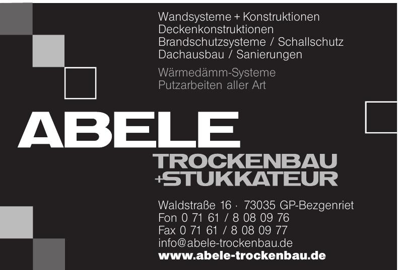 Abele Trockenbau + Stuckateur