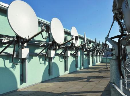 Futuristischer Anblick: Satellitenschüsseln am Norderstedter Wasserwerk.
