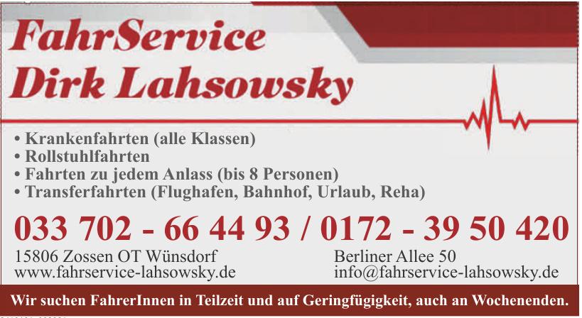 FahrService Dirk Lahsowsky