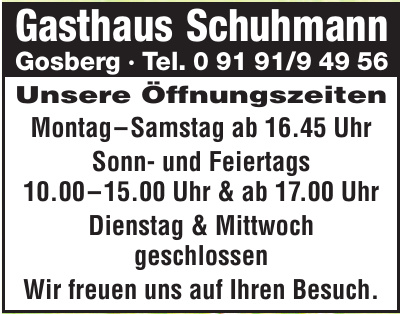 Gasthaus Schuhmann