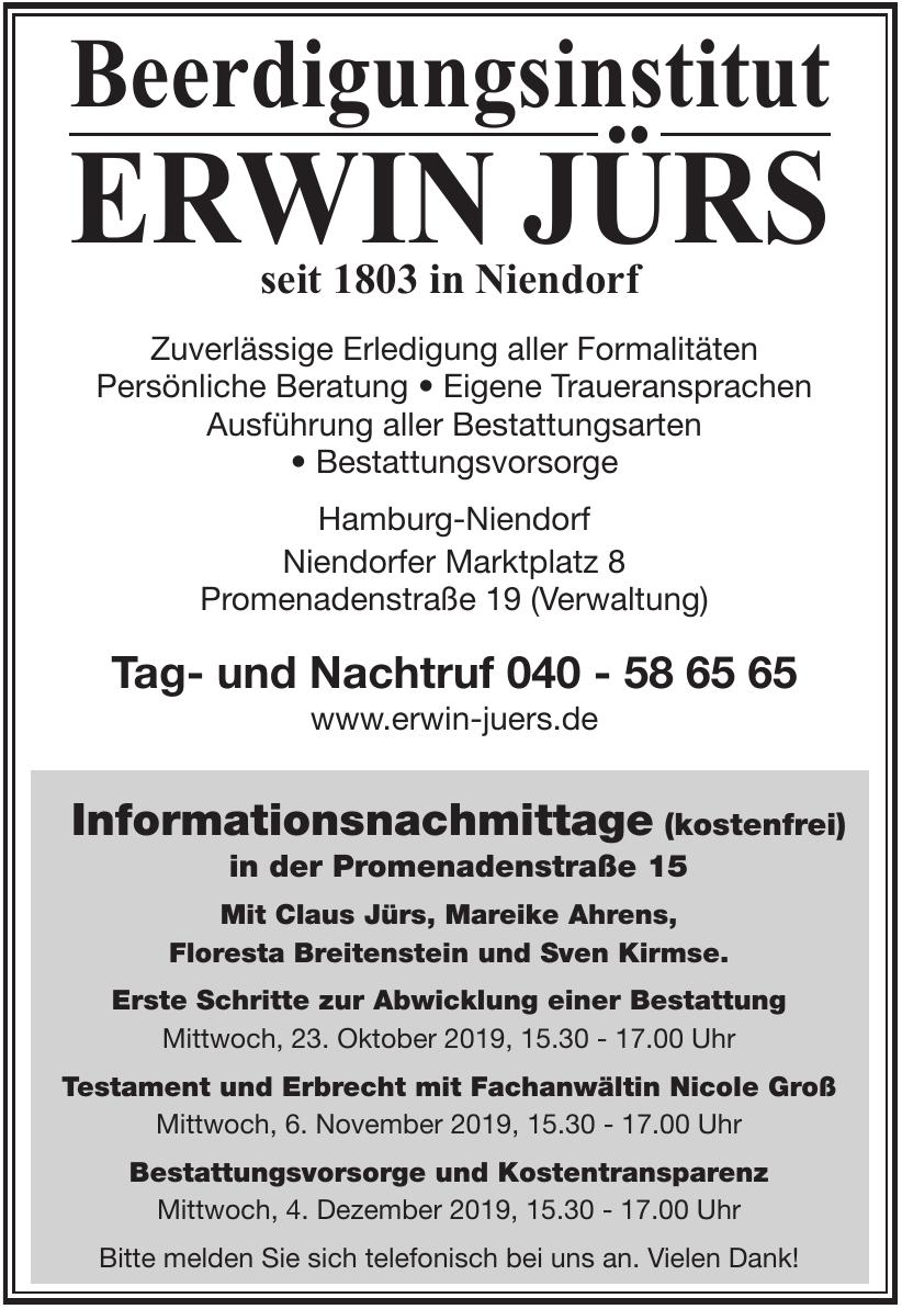 Erwin Jürs - Beerdigungsinstitut