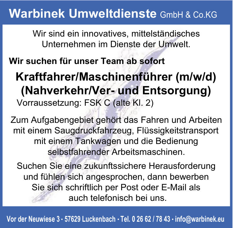 Warbinek Umweltdienste GmbH & Co.KG