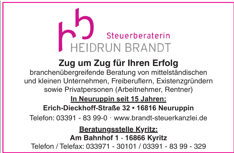 Steuerberaterin Heidrun Brandt