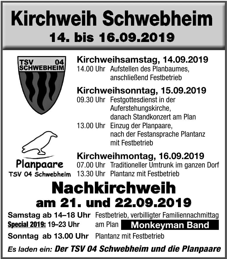 Kirchweih Schwebheim