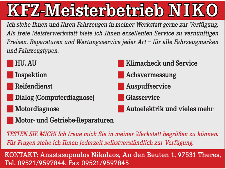 KFZ-Meisterbetrieb NIKO