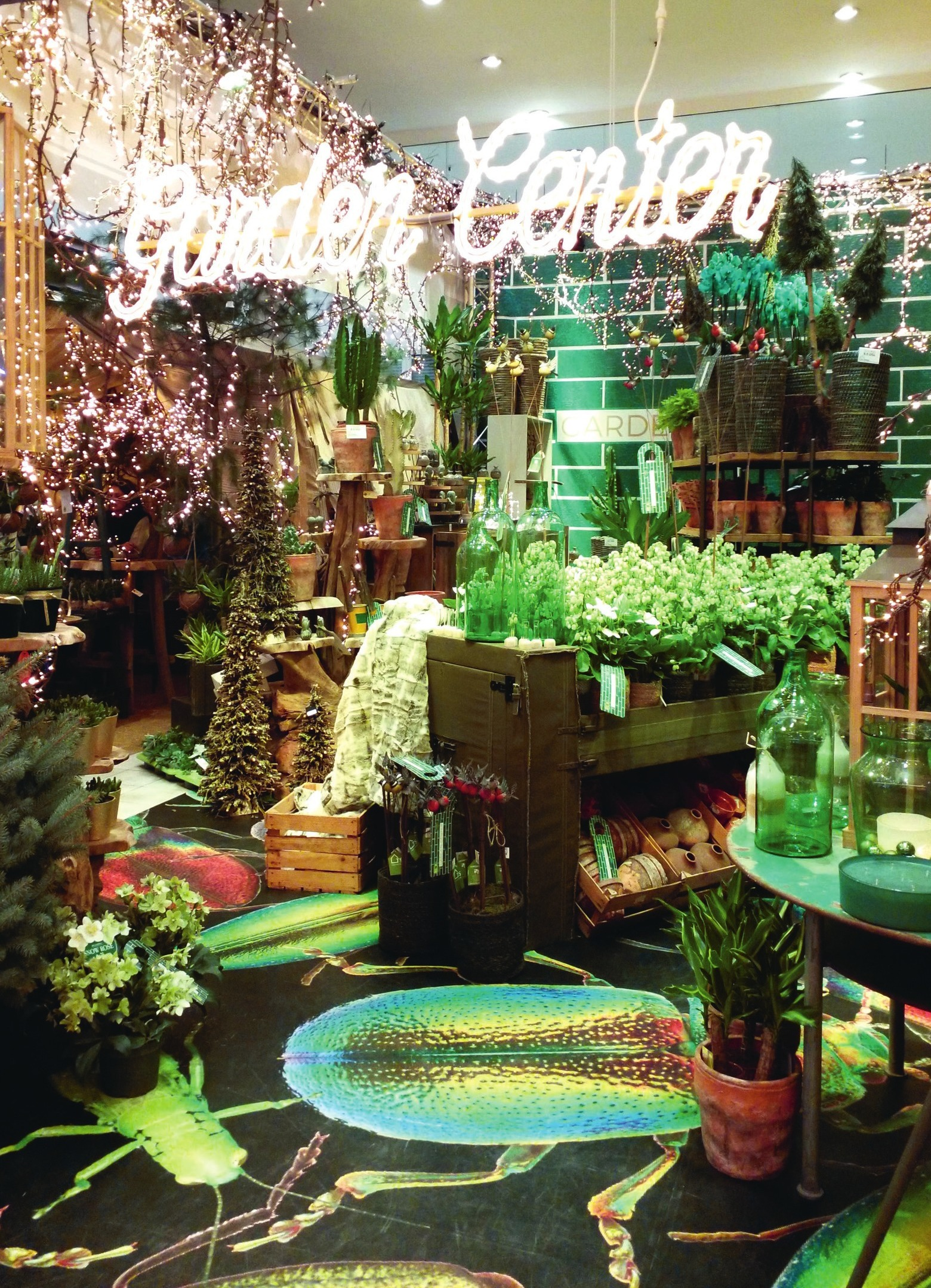 "Wow-Effekt: Der neue Retail Boulevard zeigte den Pop-up-Store ""Garden Center"". Fotos (6): Irene Seidel"