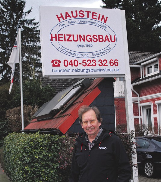 Reinhard Haustein, Heizungsfachmann aus Norderstedt, hat eine Menge zu tun und sucht deshalb dringend einen Monteur für sein TeamFoto: Tina Jordan