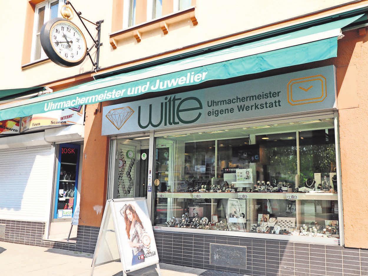 Seit 1960 eine Institution im Stadtteil: Juwelier Witte.