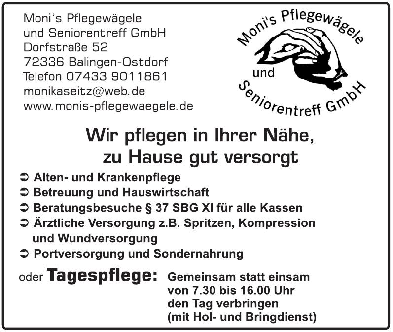 Moni´s Pflegewägele und Seniorentreff GmbH