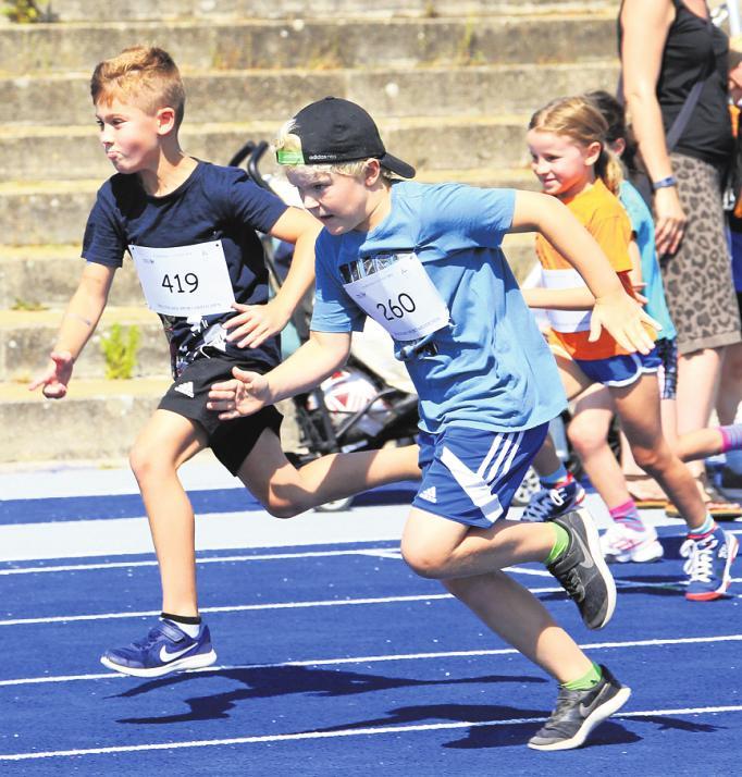 Auch die Jüngsten laufen, wie hier 2018, für ihr Deutsches Sportabzeichen. FOTOS: JUERGEN ENGLER