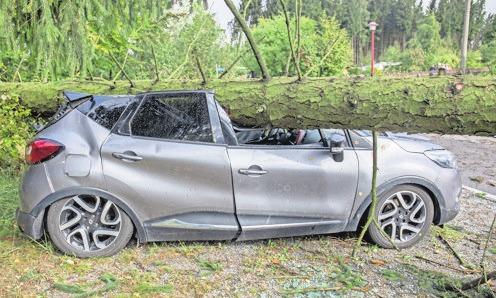 Ein Drittel der Sturmschäden betrifft Autos. Foto: dpa