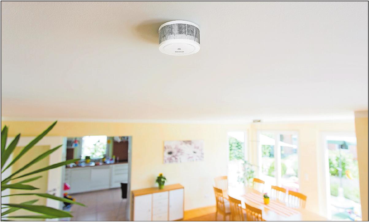 Klein und zuverlässig: Mini-Rauchmelder fallen kaum auf und lassen sich dadurch elegant ins Zuhause integrieren.FOTO: DJD/ABUS