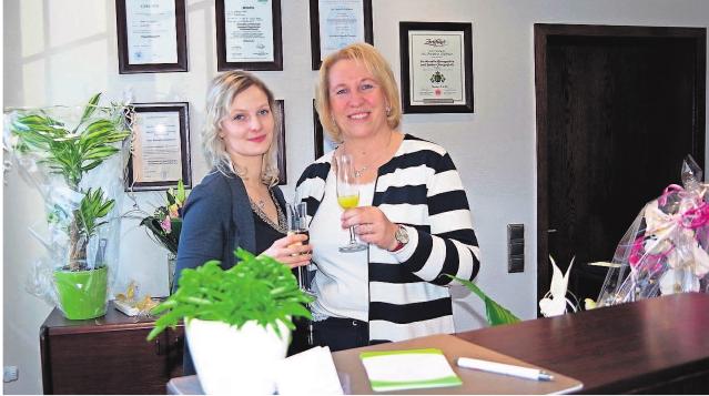 Annkatrin Großmann und ihre Mitarbeiterin Ute Lipfert sind stolz auf das bisher Erreichte. Fotos: hs