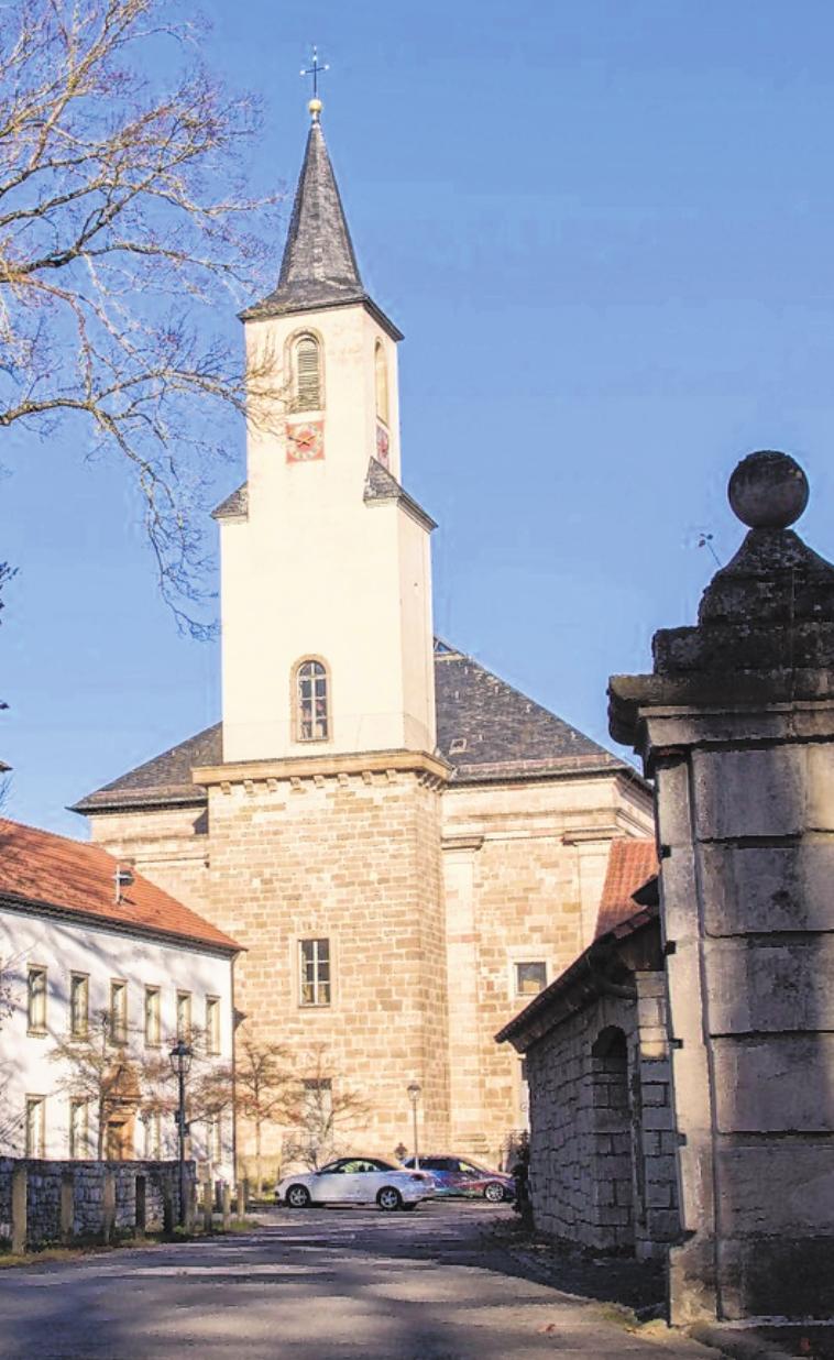 Die Sankt-Andreas-Kirche in Wonfurt aus einem anderen Blickwinkel. FOTO: ULRIKE LANGER
