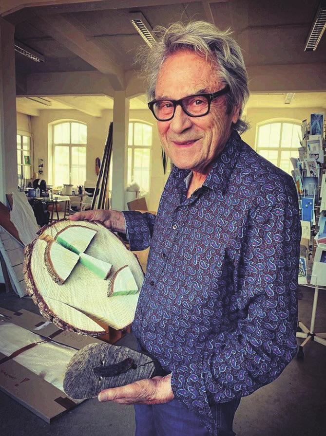 Alfonso Hüppi in seinem Atelier in Baden-Baden, 2020. Foto: Yeon-Shin Kim