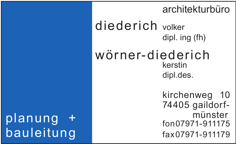 Architektubüro Diederich Volker dipl. ing. (fh)
