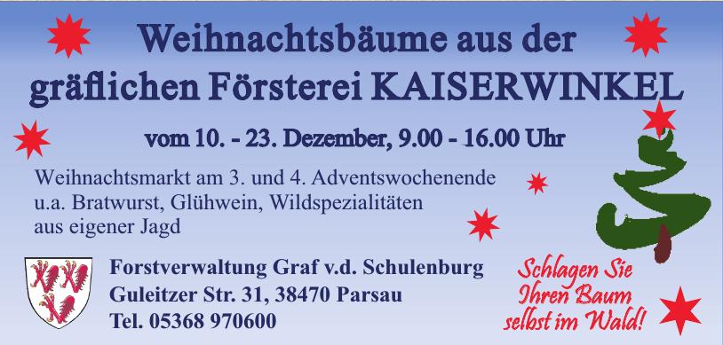 Forstverwaltung Graf v.d. Schulenburg