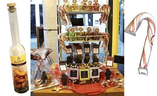 Die von Hand hergestellten Süßigkeiten im Bonscherhus warten in der Weihnachtszeit mit besonderen Motiven auf.