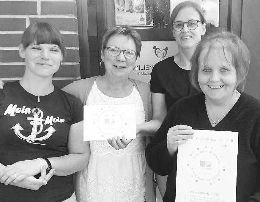 Vanessa Unrau (von links), Iris Kunzelmann, Heike Bolay und Yvonne Theodor. Foto: Lebenshilfe Celle