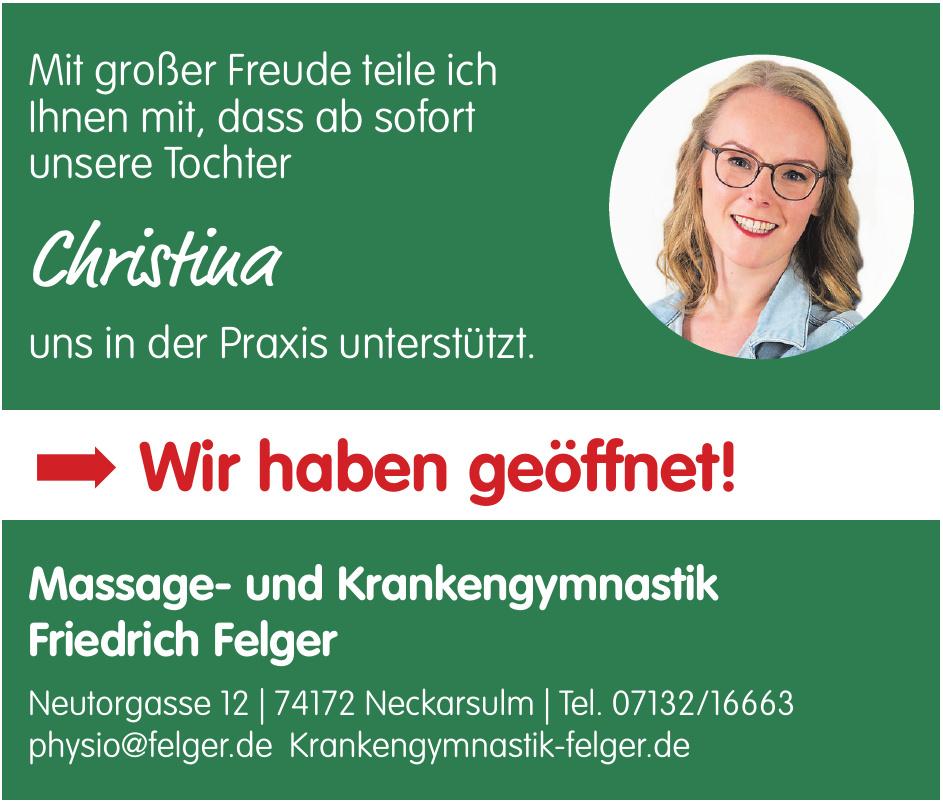 Massage- und Krankengymnastik Friedrich Felger