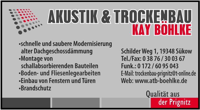Akustik & Trockenbau Kay Böhlke