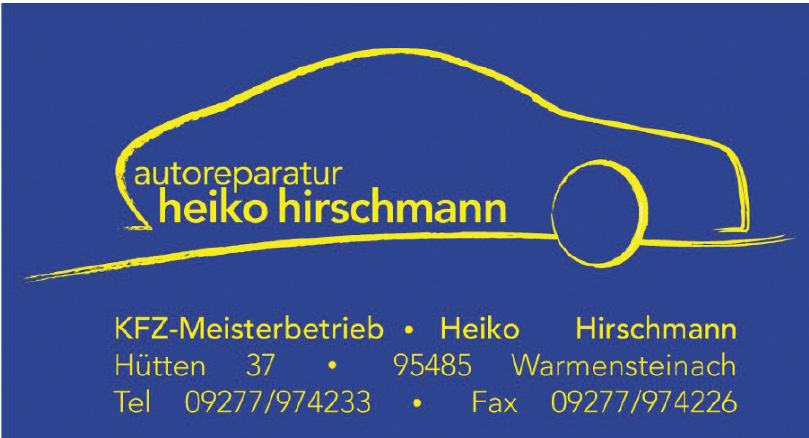 Autoreparatur Heiko Hirschmann