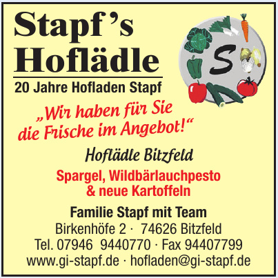 Stapf 's Hoflädle