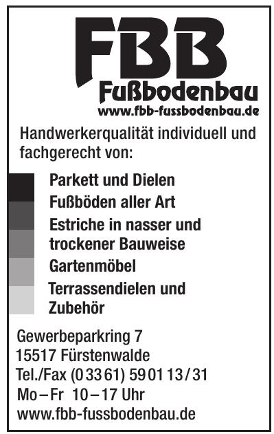FBB Fußbodenbau