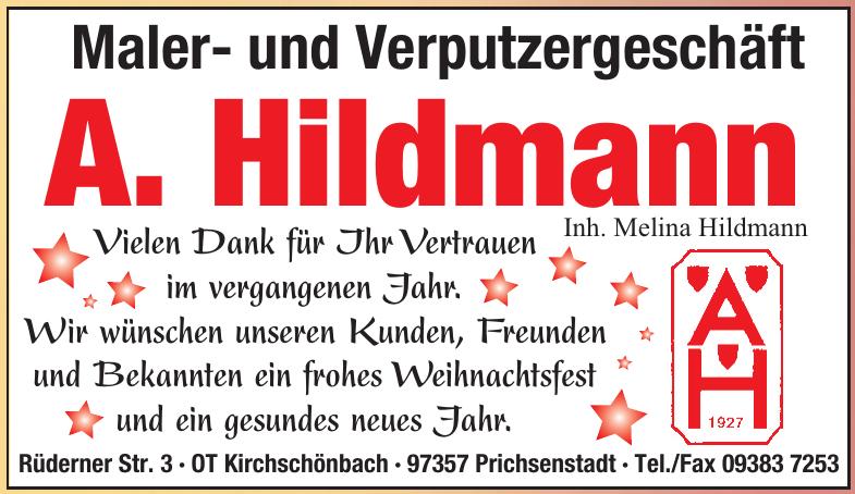 Maler- und Verputzergeschäft A. Hildmann