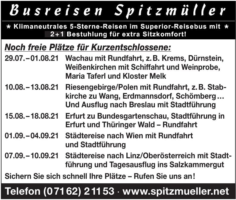 Busreisen Spitzmüller