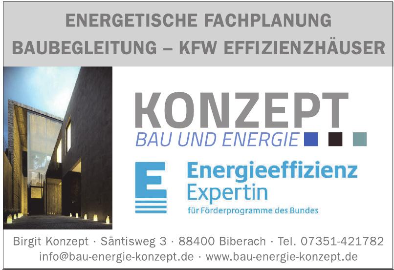 Konzept Bau und Energie
