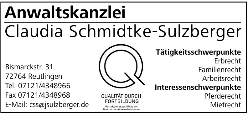 Anwaltskanzlei Claudia Schmidtke-Sulzberger
