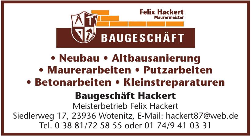 Baugeschäft Hackert - Meisterbetrieb Felix Hackert