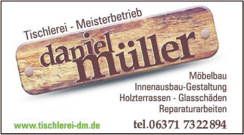 Tischlerei - Meisterbetrieb Daniel Müller