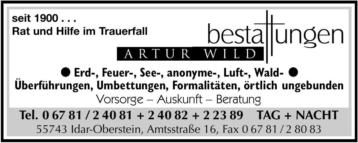 Bestattungen Artur Wild
