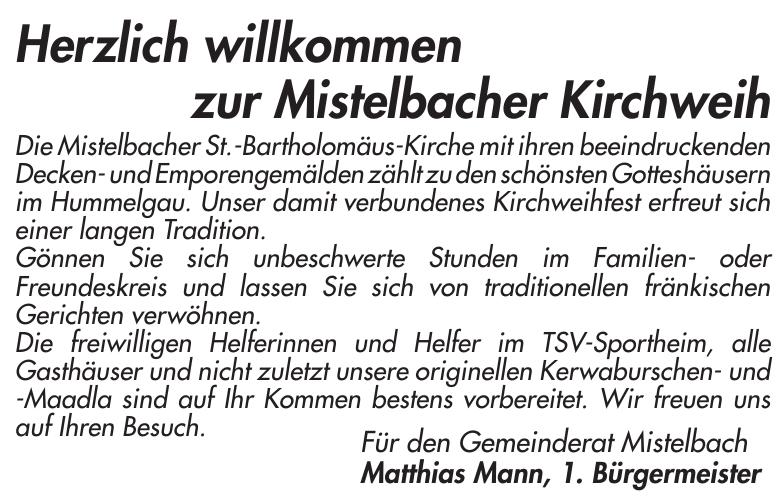 Mistelbacher Kirchweih