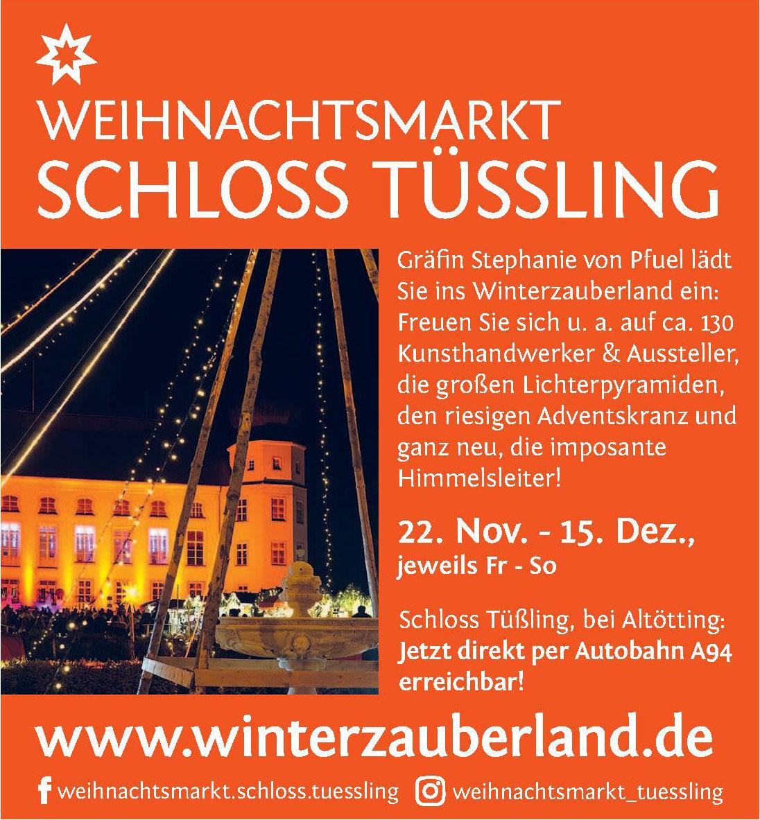 Weihnachtsmarkt Schloss Tüßling