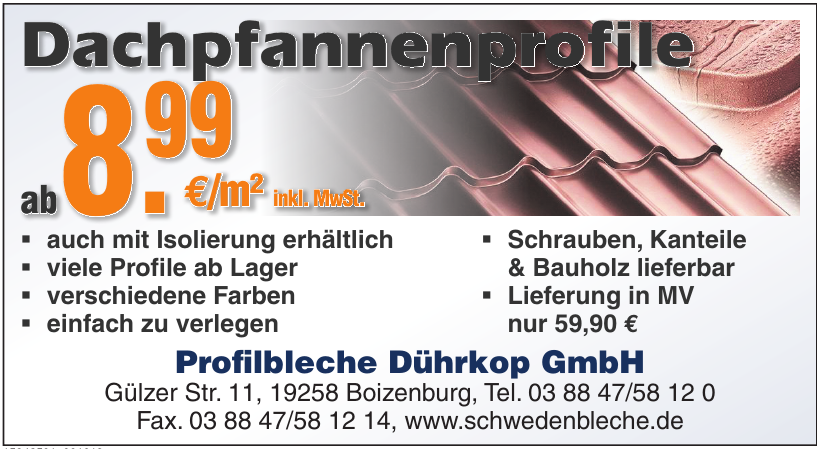 Profilbleche Dührkop GmbH