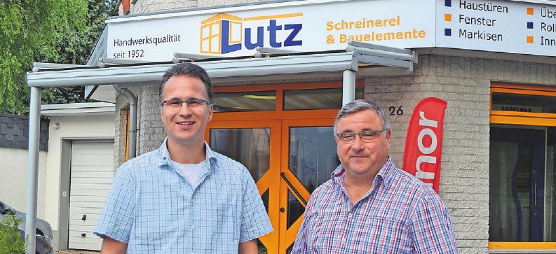 Wilfried Lutz und Sohn Stefan setzen die Tradition der 1952 gegründeten Schreinerei fort.