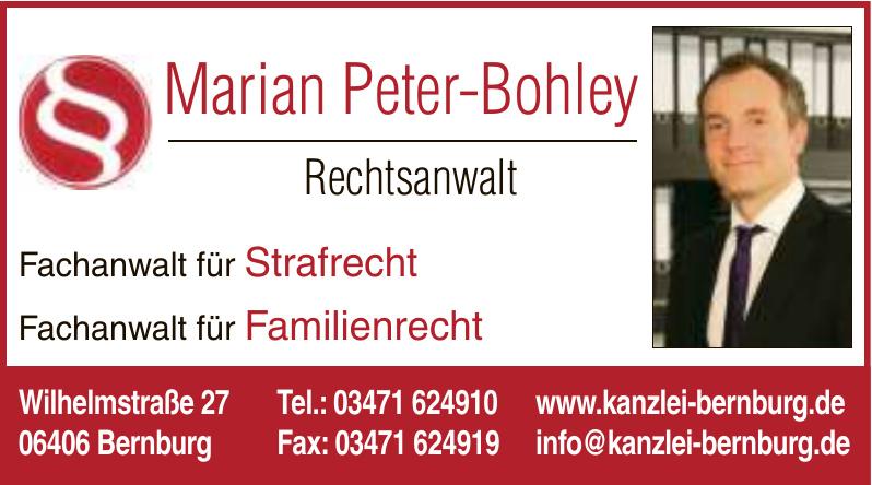 Marian Peter-Bohley Rechtsanwalt