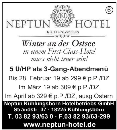 Neptun Kühlungsborn Hotelbetriebs GmbH