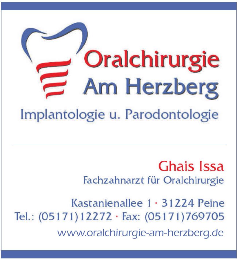 Oralchirurgie Am Herzberg